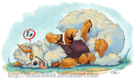 Napping Arcanine by teaselbone