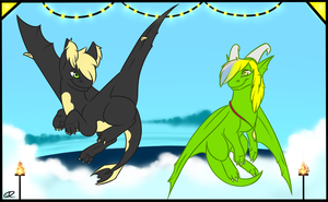 Up to the party! by Deathtail-The-DraCon