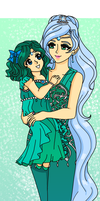 Neptune - Queen and Princess by Sailor-Serenity