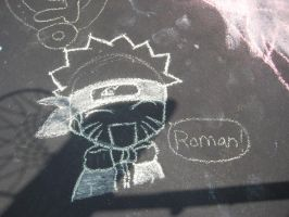 Chalk Naruto by Itachei