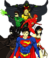 JLA:Anime by kyomusha