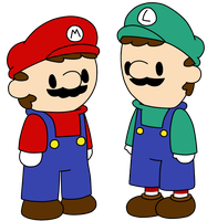 Mario and Luigi by Choco-Chesse
