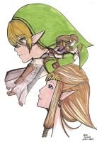 Link and Zelda by Musicpanda-chan