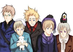 Hetalia Nordics by one-who-draws
