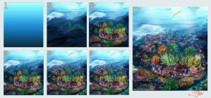 Step By Step : Great Barrier Reef by Novclow
