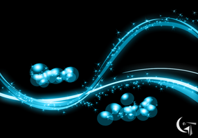 Abstract Blue Glow Background by GENAYNAY