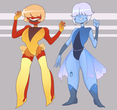CLOSED sunstone moonstone adopts by noodlesqueen