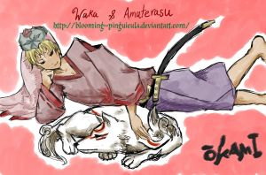 Waka and Amaterasu by Blooming-Pinguicula