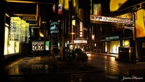 Detroit Nightlife in Deus Ex by shadowXP6