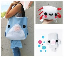 Giveaway - Shark bag, pouch and plush! by CosmiCosmos