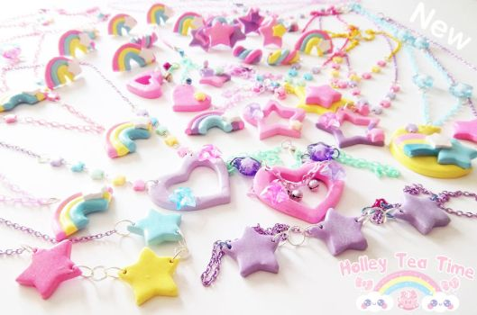 Kawaii Fairy Kei Polymer clay jewlery by miemie-chan3
