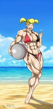 Harley Quinn (TAS) at the beach by MATL