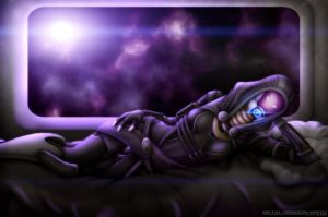 Tali'Zorah for Radavik by OrbitalWings
