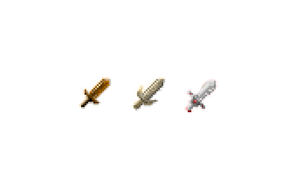 My first pixel art! - Pixel Swords by Harry7liu