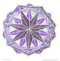 Silver Star Mandala by Quaddles-Roost