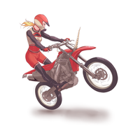 Glee - Motocross Brittany by Afterlaughs