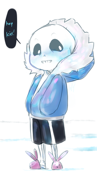 hey kid - smol sans by SparkyBytes