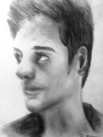 Charcoal: A Self Portrait by Rakashaka
