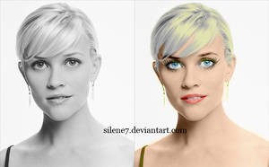 Rose Witerspoon colorize by silene7