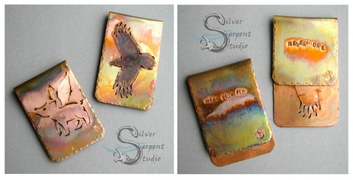 Copper Art Clips - Bookmarks or Money Clips by PurlyZig