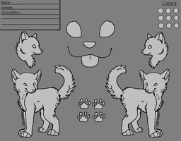 Canine  Reference LineArt by CactusFruits
