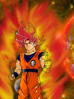 Super Saiyajin God Son Goku by gamefreak2008