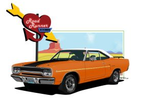1970 Plymouth Road Runner by sharpie1k
