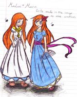 Marin and Malon by lane-nee-chan