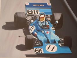 Jacki Stewart in the Tyrrell-Ford Monaco GP 1971 by huckerback6