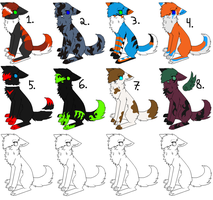 Canine adopts (Name your price) -open- by Aladdin-The-Sergal
