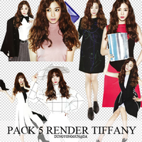 Pack 5 render tiffany by dungyonggun