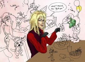 Laby Party - Coloring in process by orientalbunny