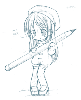 Chibi pencil by CatPlus