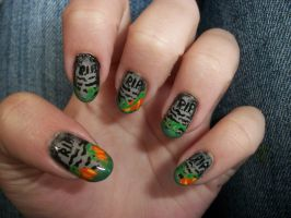Tombstone Nails by QueenAliceOfAwesome