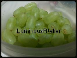 Photo - Green Grapes by LuminousAtelier