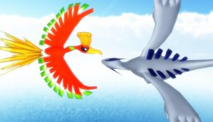 Pokemon - Lugia and Ho-oh [MMD] by stopmotionOSkun