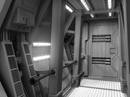 WIP: space gunship, no.8 by smudgedcat