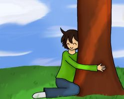 Tree Hugger by Brookiethecookieface