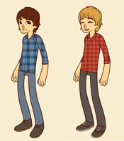 hipster Monkees 2 by MikaTheBlueKitty