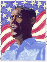 Obama painting 2 by IkeDaArtist