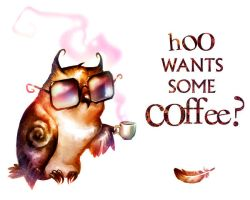 Hoo wants some coffee? by erebus-odora