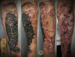 arm sleeve biomech cover up by 2Face-Tattoo