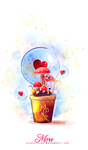 Version 3 : Bubbles Bloom by Jungyedolly