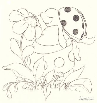 Easter Ladybird daydreaming by Hattifant
