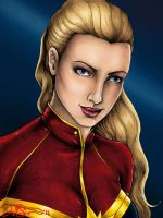 Captain Marvel - Colored by JGiampietro