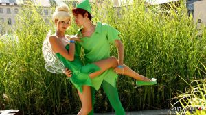Tinkerbell and Peter Pan by Youei