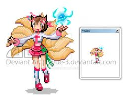 Ahri Sprite by yue-3