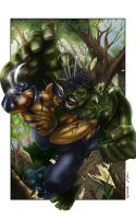 Hulk vs Wolverine by MrWills