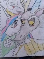 Celestia and Discord by YaoiLover113
