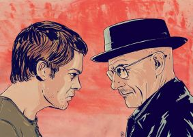 Icons: Dexter Morgan and Walter White by giuseppecristiano